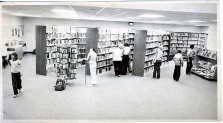 Interior of the library addition - 1978.