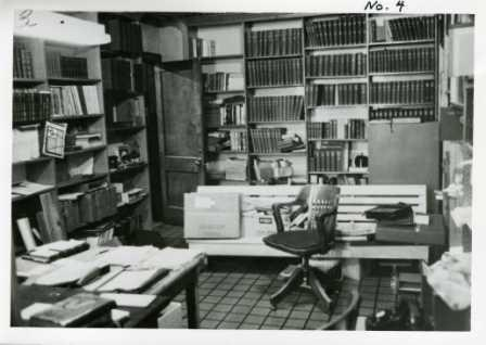 Interior of Library before addition.  This room was first a storage room, then became a boiler room, and is now a programming room.