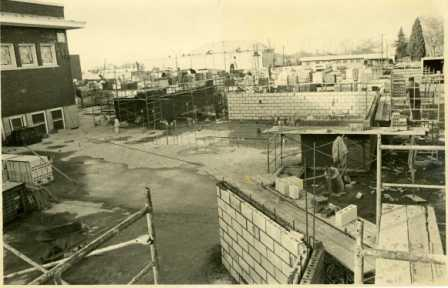 Construction on the library addition - January 1978